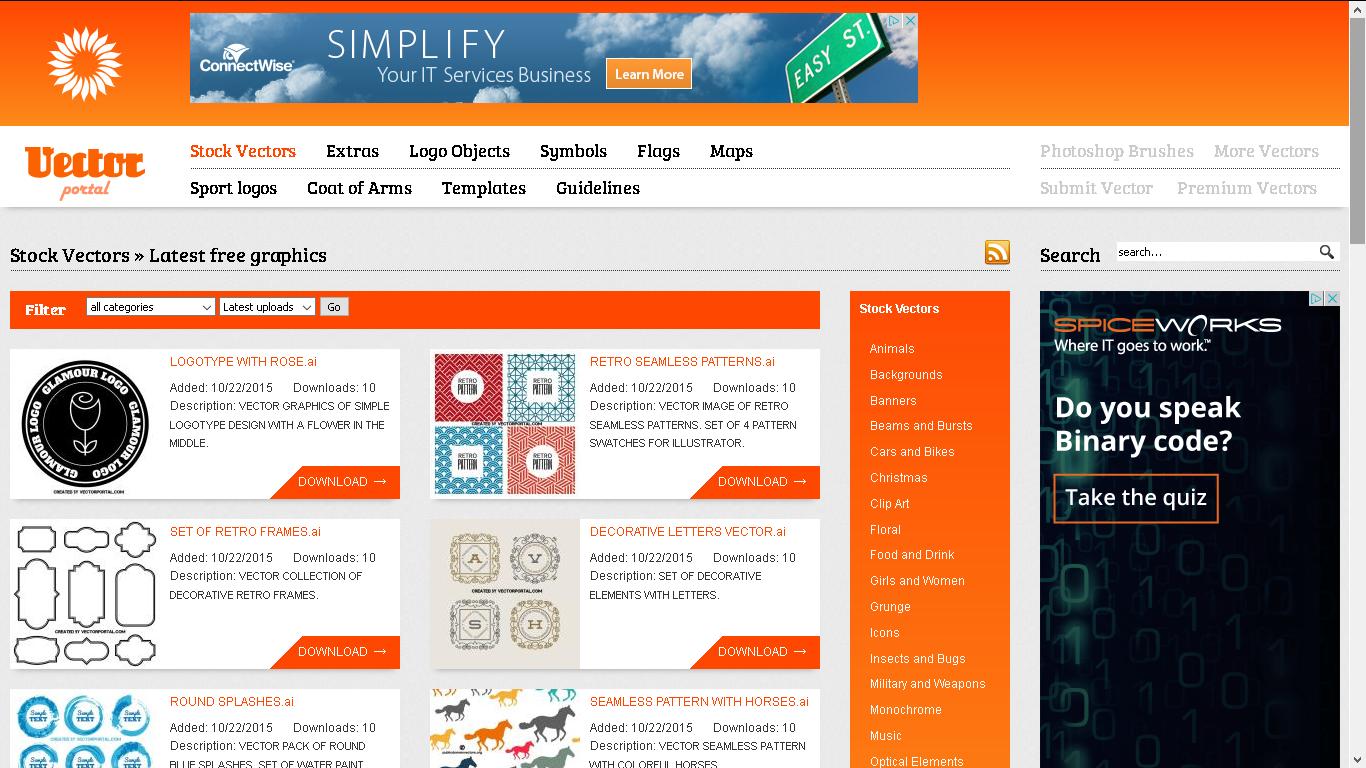 Vector portal free graphics