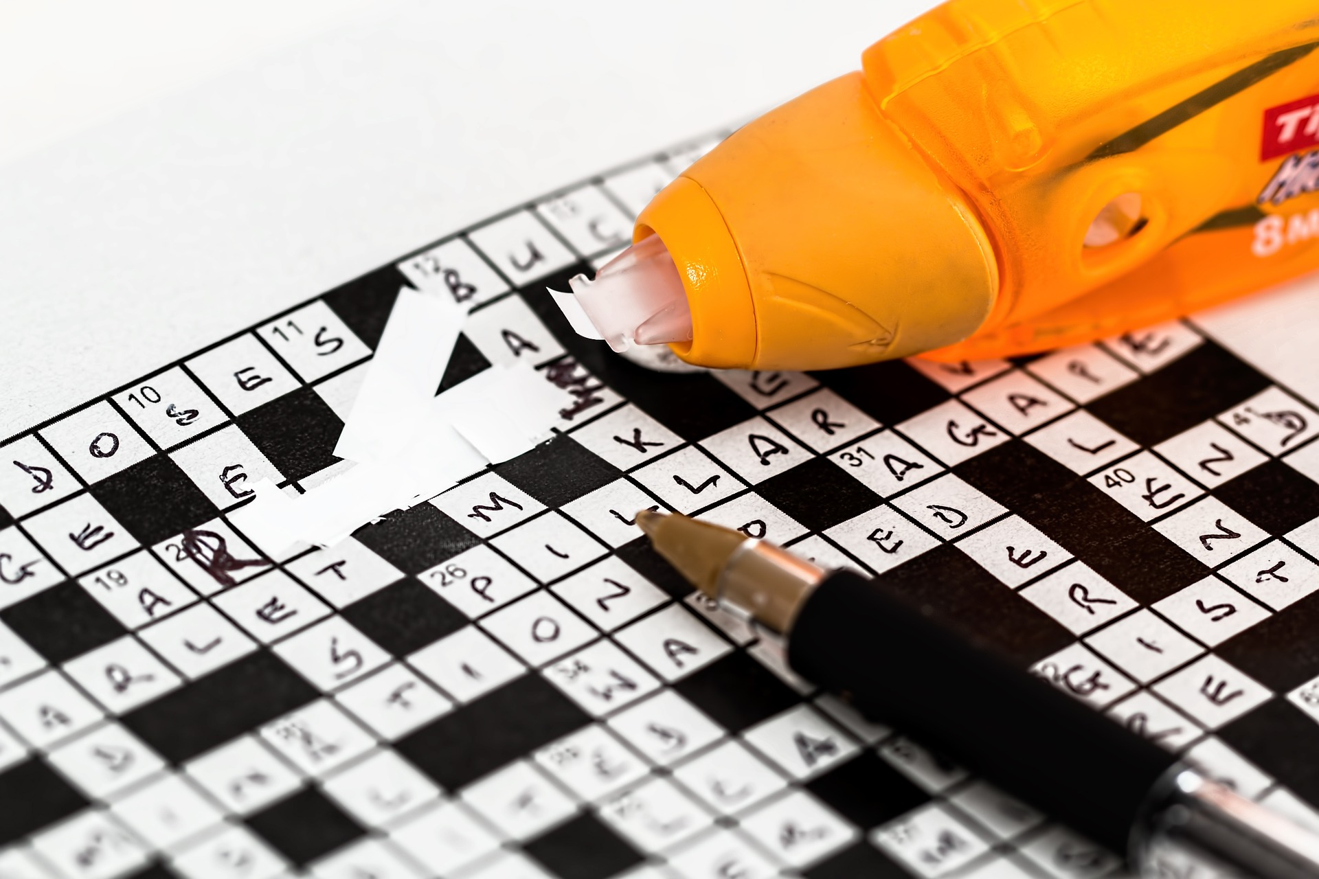 tipexed crossword