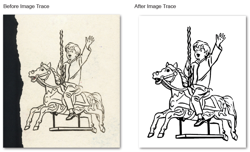 Adobe Illustrator Image Trace and Live Trace