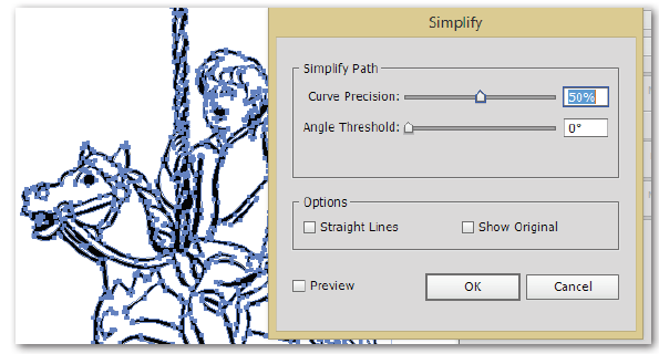 Adobe Illustrator Image Trace simplify