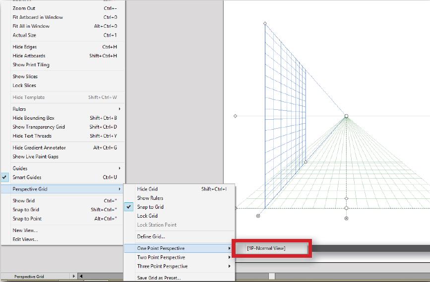 1pt perspective grid adobe illustrator