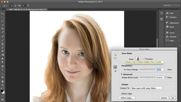 Photoshop CC Focus Mask