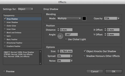 indesign cc scalable effects