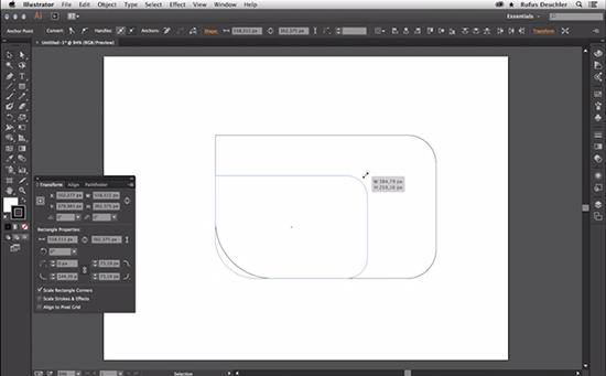 live shapes in adobe illustrator cc