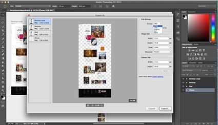 image export in Adobe Photoshop CC 2015