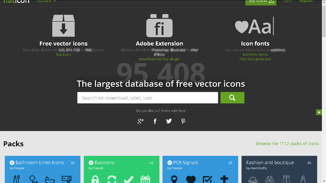 Flaticon screenshot