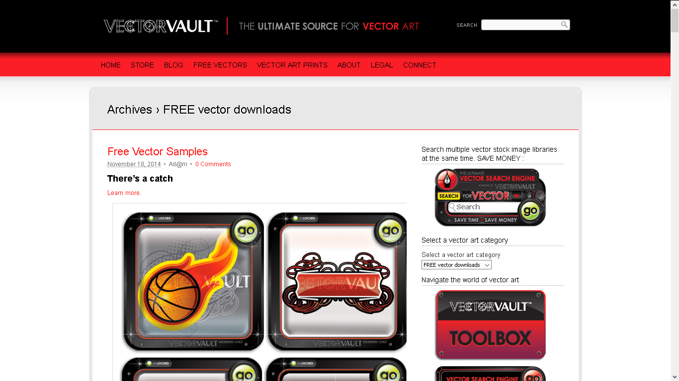 vector vault screenshot