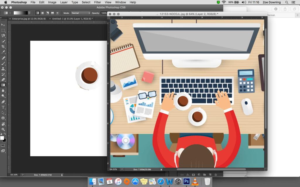 working with vectors screenshot