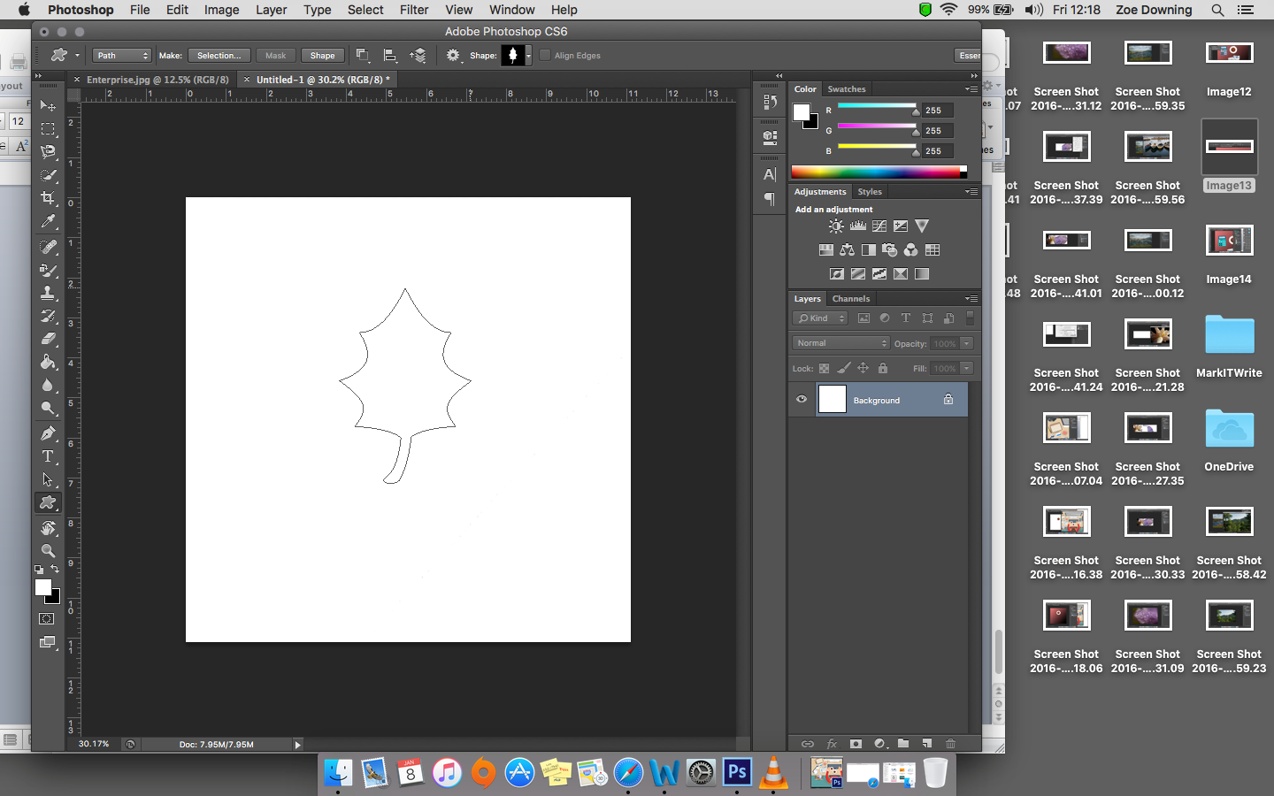 How to Draw a Line in Photoshop m
