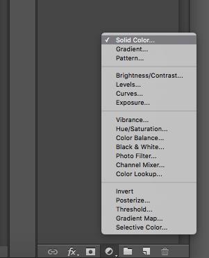 fill colour menu photoshop