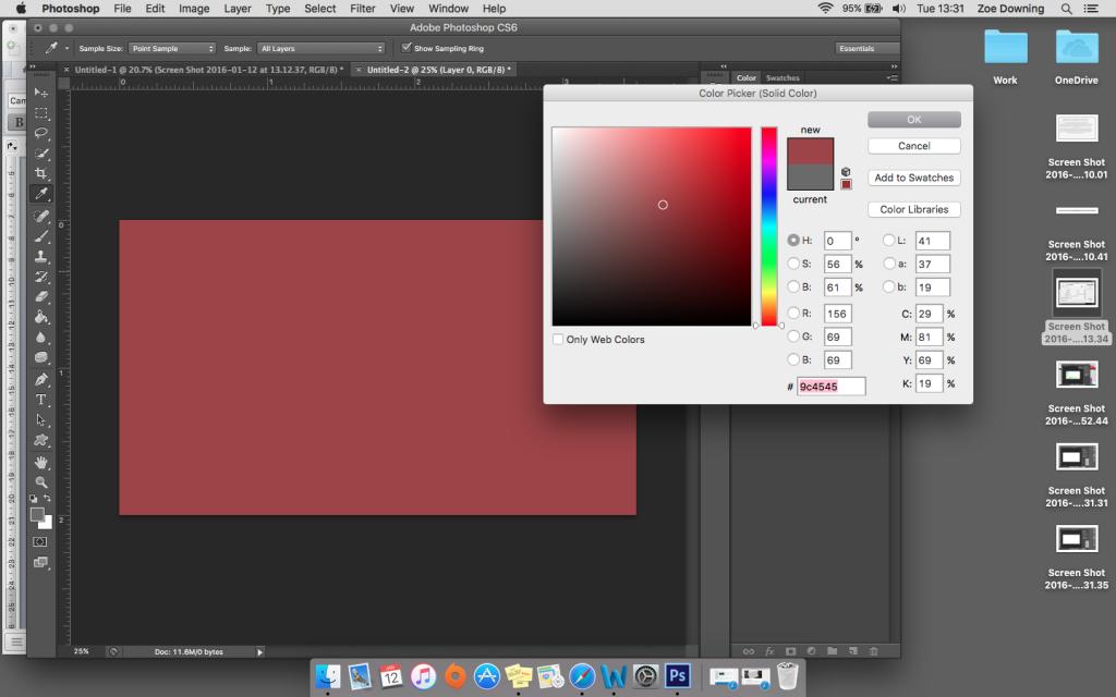 colour swatch menu photoshop