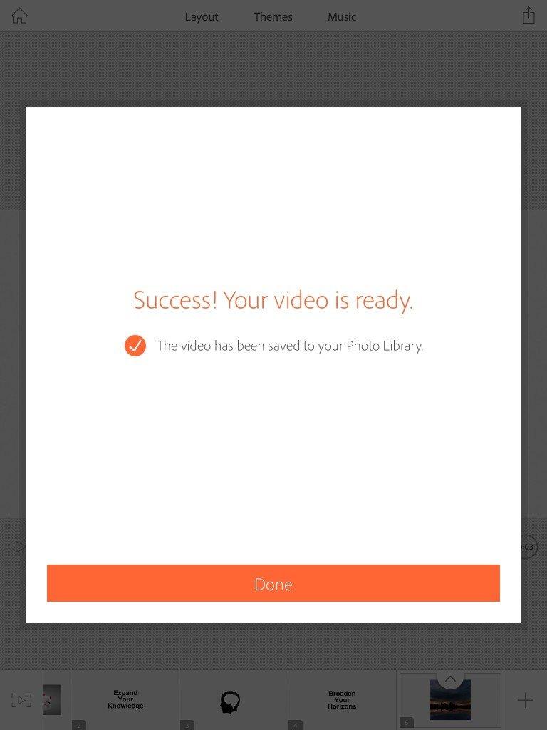 Successful video creation