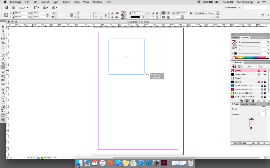 rectangle frame tool indesign