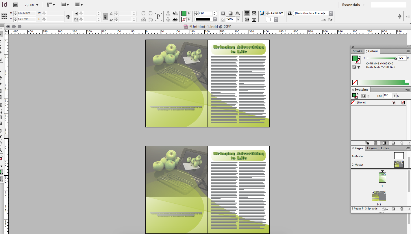 Creating A Professional Document In InDesign Creative Studio - Creating a design document