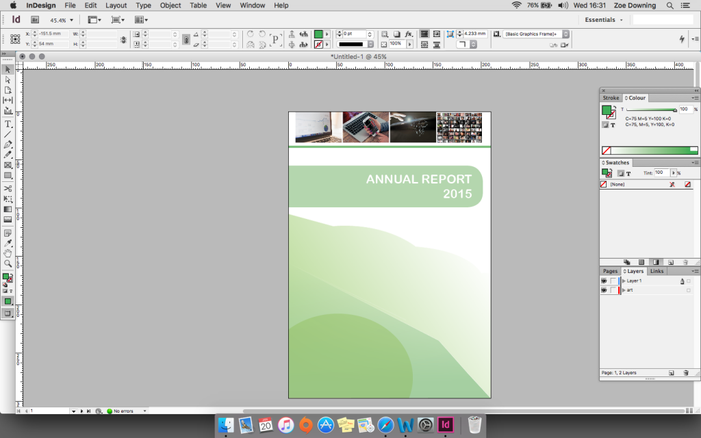 Annual report in inDesign