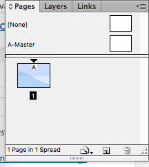 Master pages in InDesign