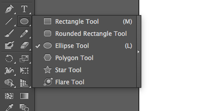 Screenshot of the shape tools