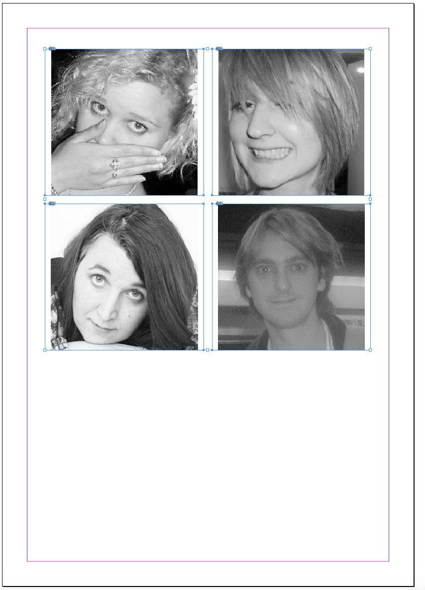 Images in frames in InDesign