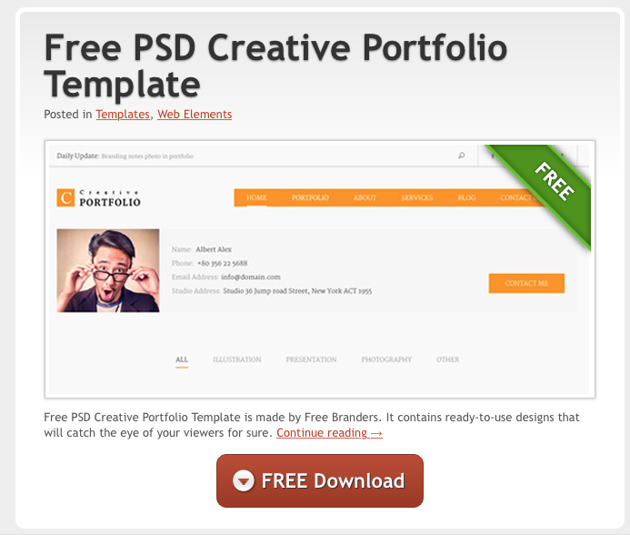 Top 10 Free Resources for PSD Downloads – Creative Studios Derby