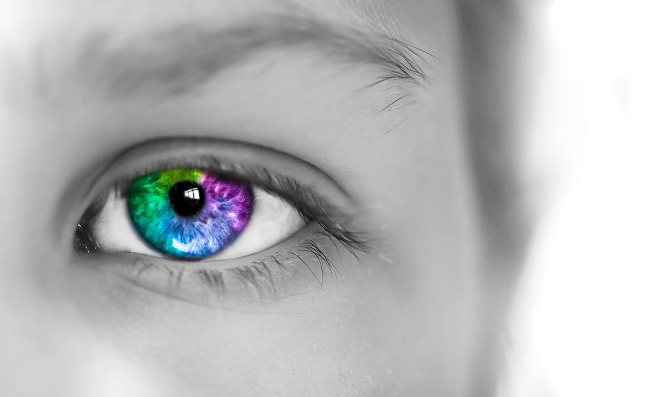 Photoshopped Eye multi-colours