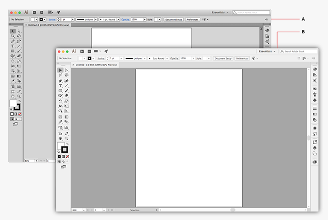 illustrator training course interface