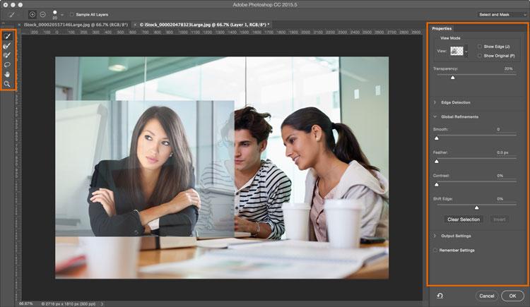 Photoshop Training - Select and mask