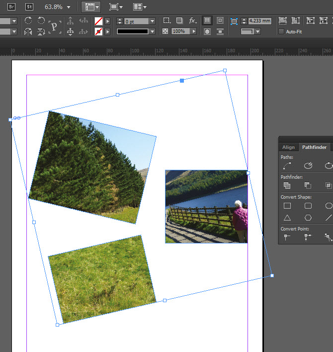 Placing images in to Adobe InDesign using compound paths