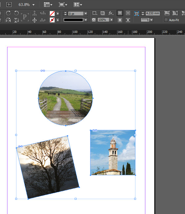 Placing images in to frames already created in InDesign
