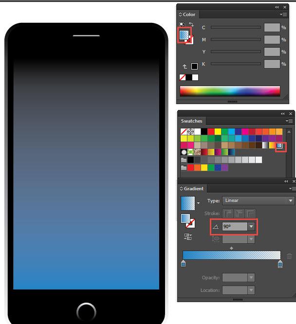 gradient rectangle adobe illustrator