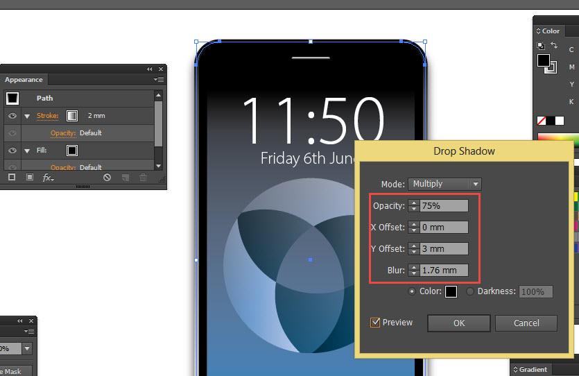Adobe Illustrator Drop Shadow