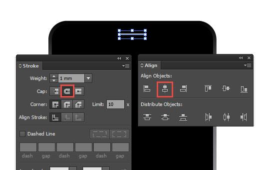 Adobe Illustrator stroke options
