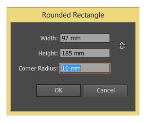 Adobe Illustrator rounded rectangle