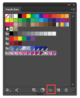Adobe Illustrators Swatches panel