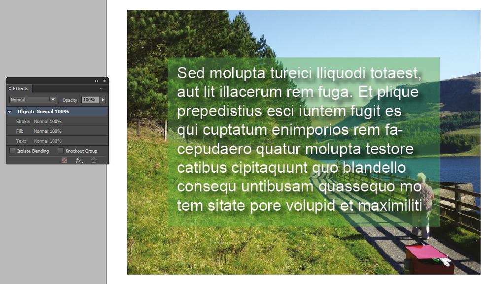 text frame effects adobe indesign