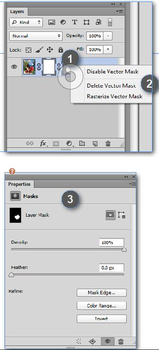 Modifying Adobe Photoshop Layer Masks