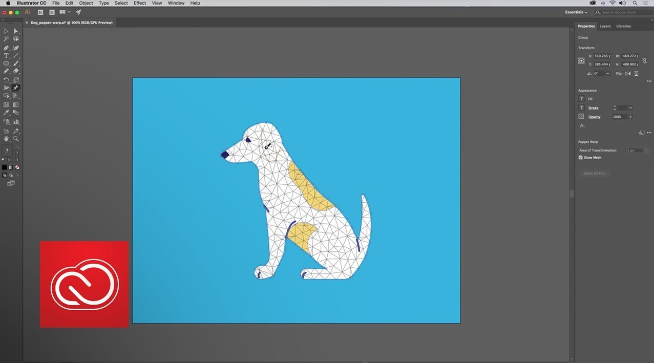 Adobe Illustrator Puppet Warp