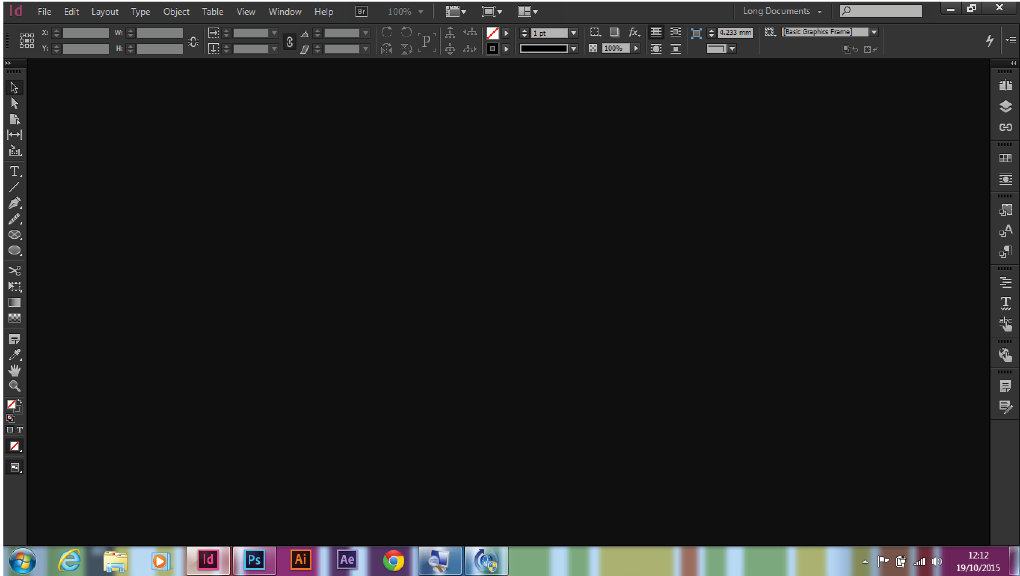 Adobe InDesign Workspace