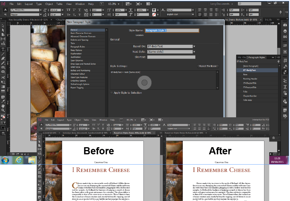 Adobe InDesign - based on styles