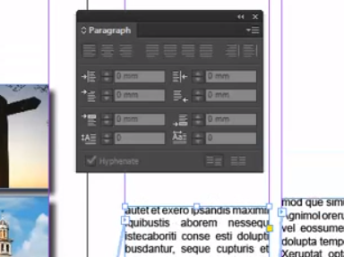 Adobe InDesign Paragraph Panel