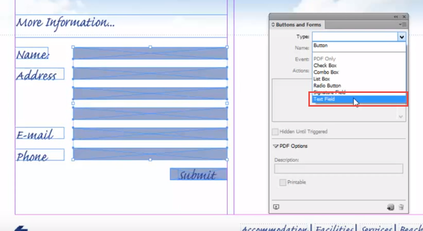 Creating PDF forms with Adobe InDesign - Creative Studio