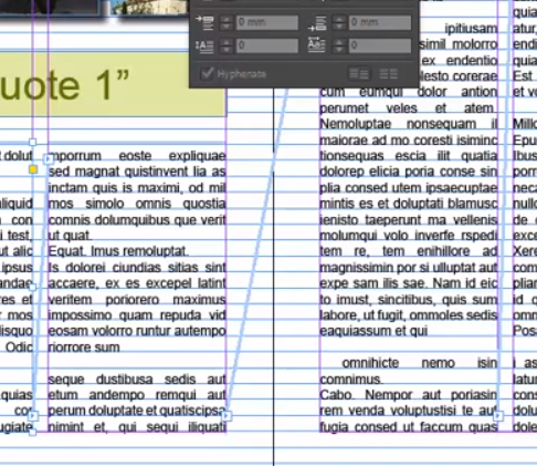 Adobe InDesign Baseline grid fitting