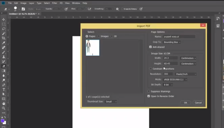 Adobe Illustrator file in to Adobe Photoshop