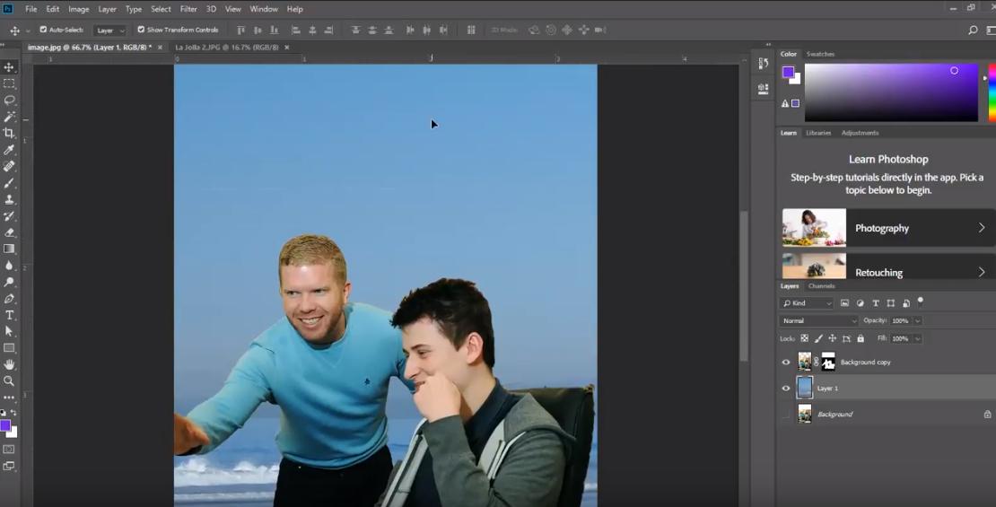 new backround Adobe Photoshop