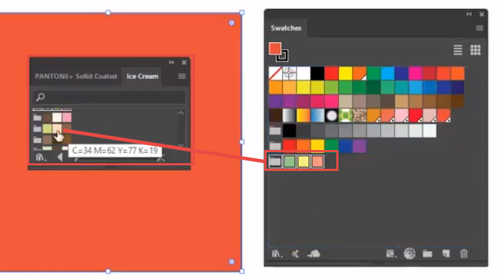 Adobe Illustrator Solid Swatch Libraries