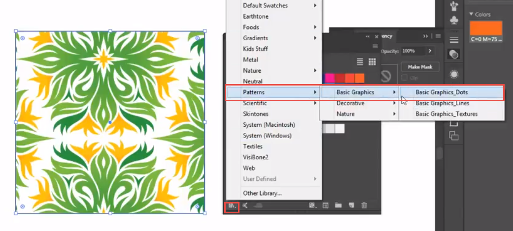 Adobe Illustrator Pattern Swatches