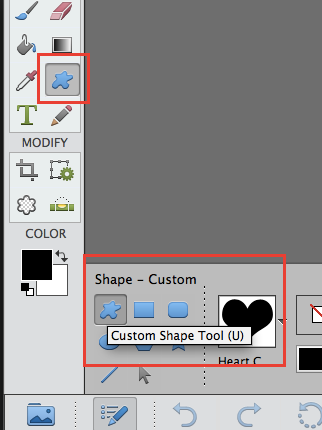 shape tool adbe photoshop elements
