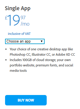 Adobe Single App prices