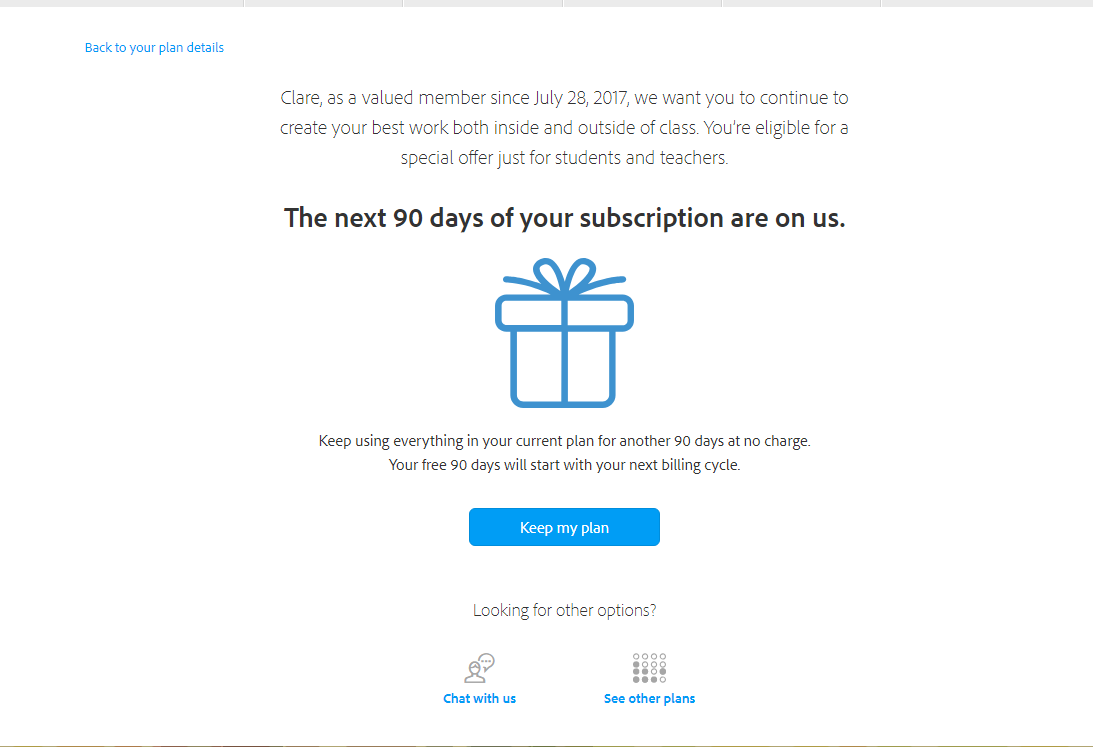 90n days free creative cloud subscription
