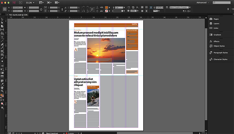Adobe InDesign Layouts