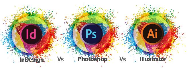 Adobe Photoshop, Illustrator and InDesign